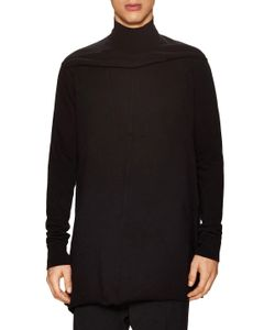 Rick Owens | Cotton Solid Turtleneck Top