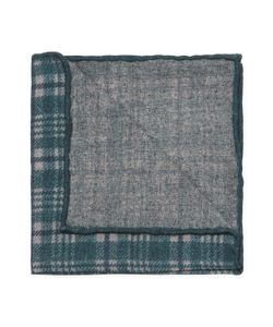 Brunello Cucinelli | Plaid Print Wool Pocket Square