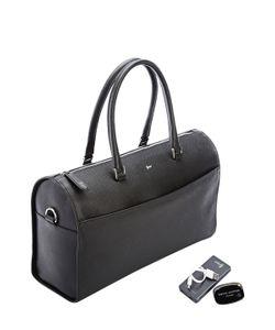 Royce Leather | Rfid Blocking Saffiano Barrel Bag Set