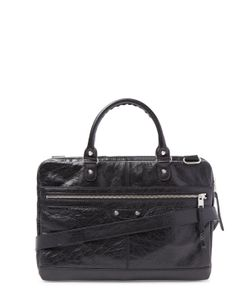 Balenciaga | Distressed Lambskin Briefcase