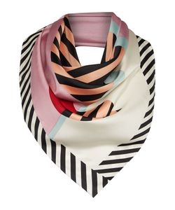 Lulu Guinness | Anna Doll Face Silk Square Scarf
