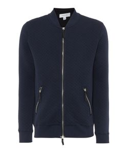 Soulland | Mens Kingston Quilted Zip Through Sweatshirt