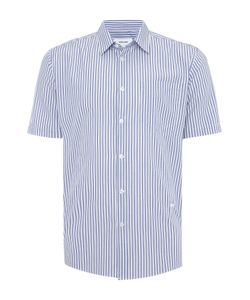 Soulland | Mens Lauridsen Regular Fit Seersucker Stripe Shirt
