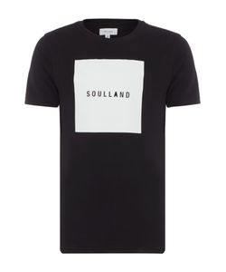 Soulland | Mens Soulsquare Regular Fit Square Logo Print T Shirt