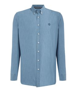 Gloverall   Mens 100 Cotton Washed Chambray Shirt