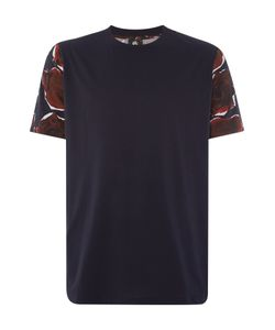 PS Paul Smith | Mens Ps By Paul Smith Regular Fit Rose Sleeve Print Crew