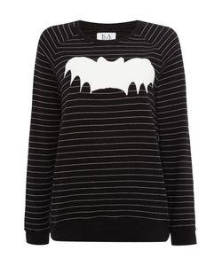 Zoe Karssen | Long Sleeved Striped Bat Sweatshirt