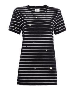 Zoe Karssen | Short Sleeve Stripe Cut Out Tee