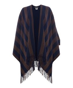 Max Mara | Giunto Striped Frindged Edge Poncho