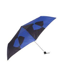 Lulu Guinness | 50/50 Lips Grid Superslim Umbrella