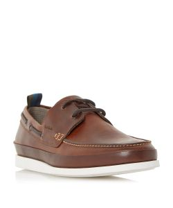 Paul Smith | Branca White Sole Boat Shoes
