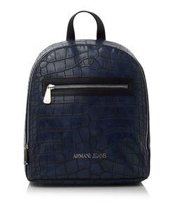 Armani Jeans | Navy Croc Print Rucksack