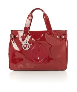 Armani Jeans | Red Patent Tote Bag