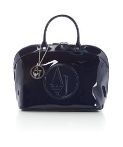 Armani Jeans | Navy Patent Dome Bag