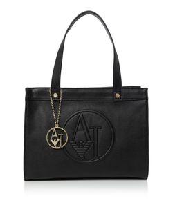 Armani Jeans | Eco Leather Black Medium Tote Bag