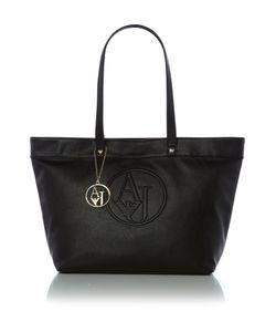 Armani Jeans | Eco Leather Black Large Tote Bag