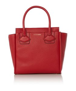 Lulu Guinness | Lyra Red Small Lip Applique Tote Bag