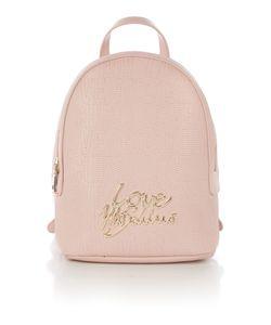 Love Moschino | Love Stitching Pink Backpack