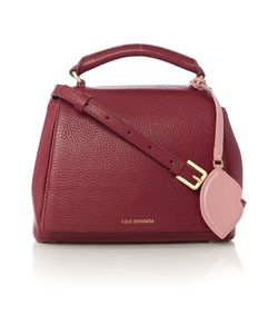 Lulu Guinness | Rita Burgundy Small Shoulder Bag With Lip Charm