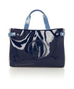 Armani Jeans | Navy Patent Tote Bag