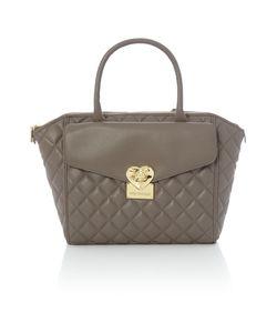 Love Moschino | Superquilt Grey Medium Tote Bag