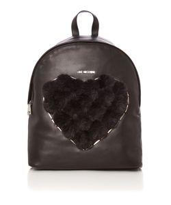 Love Moschino | Pom Pom Black Backpack