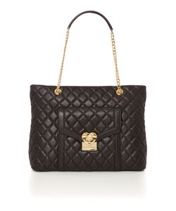 Love Moschino | Superquilt Black Chain Shoulder Tote Bag