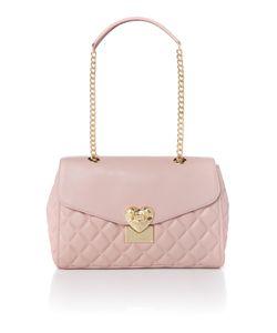 Love Moschino | Superquilt Pink Medium Flapover Shoulder Bag