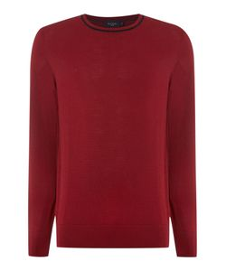 Paul Smith   Mens Crew Neck Tipped Collar Knitted Jumper