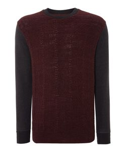 Paul Smith   Mens Knitted Pannel Sweatshirt