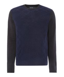 Paul Smith   Mens Jacquard Front Knitted Crew