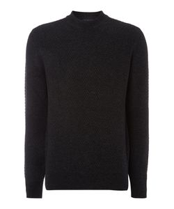 Paul Smith | Mens Crew Neck Chunky Twill Knitted Jumper