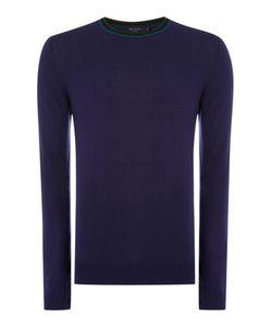 Paul Smith   Mens Triple Tip Collar Merino Knitted Jumper