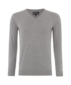 Barbour | Mens V-Neck Pima Cotton Jumper