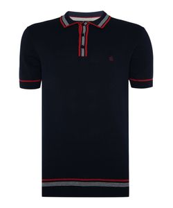 Merc | Mens Mens Knitted Tipped Polo