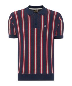 Merc | Mens Mens Knitted Boating Stripe Polo