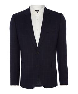 Paul Smith London   Mens Soho Windowpane Check Slim Fit Jacket