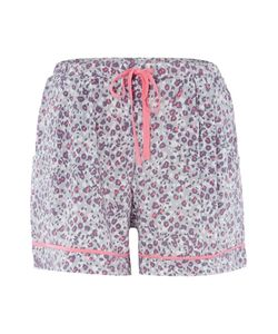 DKNY | Animal Print Drawstring Shorts