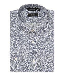 Paul Smith London   Mens The Byard Leaf Pattern Slim Fit Shirt