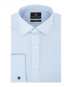 Chester Barrie | Mens L/S Contemp James Micro Grid Shirt D/C