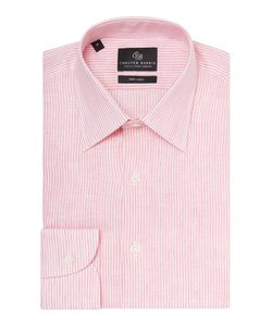 Chester Barrie | Mens Stripe Tailored Long Sleeve Classic Collar Shirt