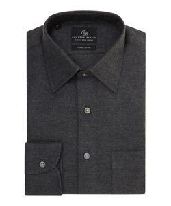 Chester Barrie | Mens Peter Herringbone Flannel Shirt