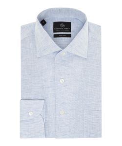 Chester Barrie | Mens Revere Classic Fit Linen Shirt