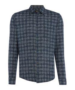 HUGO BOSS | Mens Enamee Printed Brush Check Long Sleeve Shirt