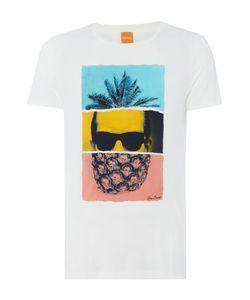 HUGO BOSS | Mens Towney 2 Regular Fit Pineapple Head Print T
