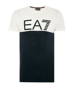 EA7 | Mens Short Sleeve Contrast Logo Crew Neck Tee