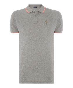 Paul Smith Jeans | Mens Slim Fit Tipped Zebra Logo Polo Shirt