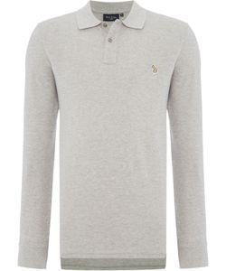 Paul Smith Jeans | Mens Regular Fit Long Sleeve Zebra Logo Polo