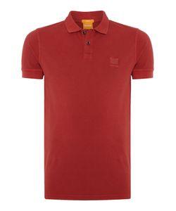 HUGO BOSS | Mens Pascha Slim Fit Square Logo Short Sleeve Polo