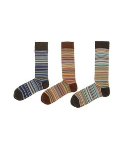 Paul Smith | Mens 3 Pack Multistripe Sock